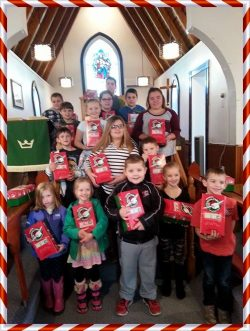 Congratulations to our Sunday School for preparing seventeen shoeboxes for Operation Christmas Child 2016. Thank you to everyone who supported this effort in any way. The shoeboxes were blessed at St. Agnes' Church on Sunday, November 13 and sent off with love and prayers to their destinations.